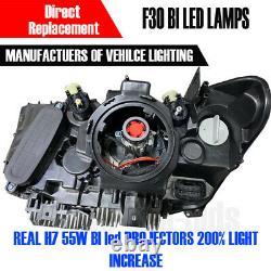 Aftermarket BMW F30 Bi Led Headlamps same as oem Genuine angel eyes LED