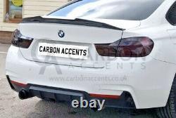 BMW 4 Series, Real Carbon Fiber Fibre Rear Spoiler, High Kick PSM M Style, F32