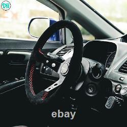 BMW E46 M3 STEERING WHEEL GENUINE SUEDE RED STITCH VIILANTE TOURISMO 350mm