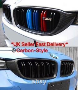 BMW F80 M3 F82 M4 F32 F33 F36 4 series Genuine Carbon Fiber Grill Covers