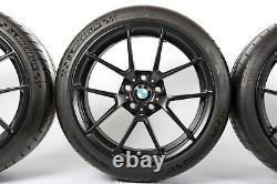 BMW Genuine 763M M3 M4 F80 Wheel & Tyre Set Matt Black M Performance 36112449763
