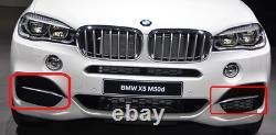 BMW NEW GENUINE X5 SERIES F15 M50d FRONT M SPORT BUMPER GRILL TRIM PAIR (L+R)
