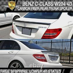 Benz C-Class W204 08-14 Rear Trunk Spoiler Wing Real Carbon Fiber CF