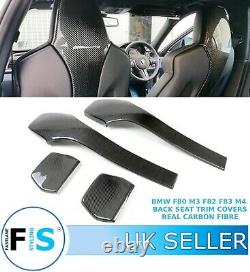 Bmw F80 M3 F82 F83 M4 Rear Seat Trim Covers Real Carbon Fibre Seat Back Covers