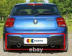 Bmw New Genuine 135 F20 F21 10-14 M Sport Bumper Diffuser With Two Muffler Holes