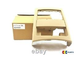 Bmw New Genuine 3 Series E90 E91 05-12 Rear Center Console Beige Cover 7145683