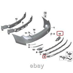 Bmw New Genuine 7 F01 F02 M Sport Bumper Trim Panel Diffuser With Exhaust Tips