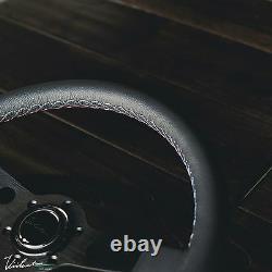 Bmw Viilante Corsa 350 Steering Wheel Genuine Leather Tri-color Stitch E36 M3