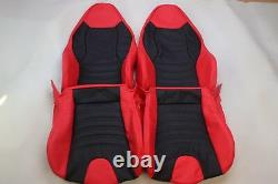 Custom Made BMW Z3 Real Leather Seat Covers Black for M Sport seats Red/Black