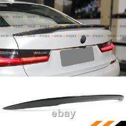 FOR 19-21 BMW G20 330i M340 G80 M3 HIGHKICK REAL CARBON FIBER TRUNK SPOILER WING