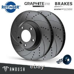 Fits BMW 1 2 3 4 Series Drilled & Grooved Brake Discs Rear Vented 300mm Upgrade