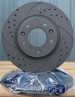 Fits BMW 1 3 4 Series F20 F30 F32 F36 F33 Drilled & Grooved Brake Discs Fr 300mm
