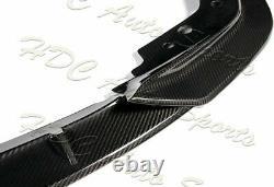 For 2019-2021 BMW G20 M-Sport M340i Real Carbon Fiber Front Bumper Body Lip 3PC