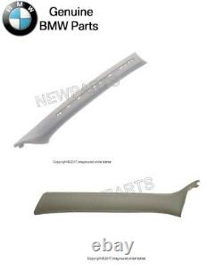 For BMW E46 Pair Set of Light Gray Front Left &Right A Pillar Trim Panel Genuine