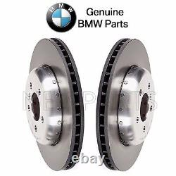 For BMW F10 F12 F13 F06 Pair Set of Front Left & Right Disc Brake Rotors Genuine
