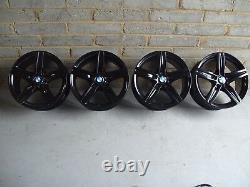Genuine 17 BMW 379 1 Series F20 F21 2 3 Series Black Alloy Wheels & New Tyres