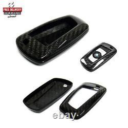 Genuine 3D Carbon Fibre Keyless Smart Key Case Cover BMW 1 2 3 4 5 6 7 Series X4