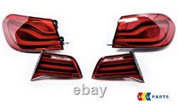Genuine Bmw F32 F33 F36 F83 LCI Led Rear Euro Tail Lights Retrofit Black Line