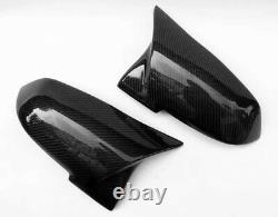Genuine Carbon Fiber Wing Mirror Cap Covers BMW 1 2 3 4 X1 Series M3 M4 Style