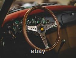 Genuine Momo Heritage California Mahogany wood rim 360mm steering wheel. Classic