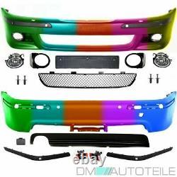 Limousine Bodykit Stoßstange Vorne Hinten für SRA/PDC LACKIERT passt für BMW E39
