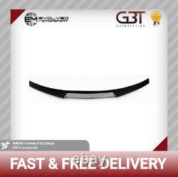 M4 Style Bmw 4 Series Carbon Fibre F32 Coupe Rear Boot Spoiler 2014+ Real Carbon