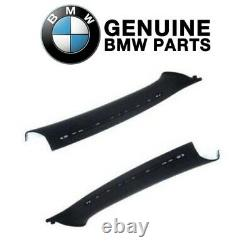 Pair Set of 2 Front Inner Body A-Pillar Trim Panels Genuine For BMW E46 Coupe