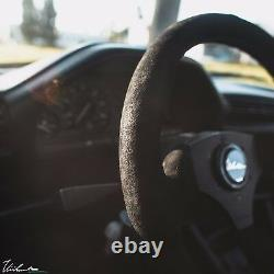 VIILANTE LEGGERA 350mm STEERING WHEEL GENUINE SUEDE TRI-COLOR FITS BMW E30 M3